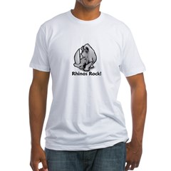 Rhinos Rock! Fitted T-Shirt