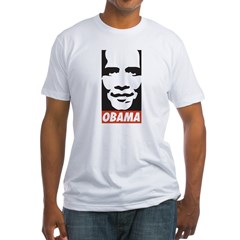 Comic Style Barack Obama Fitted T-Shirt