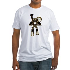 musicrobot_color.jpg Fitted T-Shirt