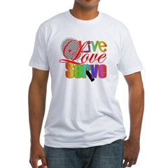 Live, Love, Serve Fitted T-Shirt