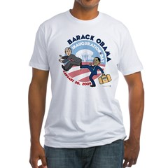 Obama Inaguration Final1.jpg Fitted T-Shirt