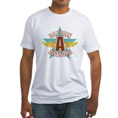 Captain Awesome 2 Fitted T-Shirt