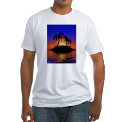 sunrise-sunset--palm-tree-s.jpg Fitted T-Shirt