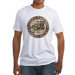Celtic Cat Fitted T-Shirt