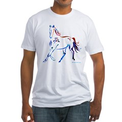 Horse of Many Colors Fitted T-Shirt