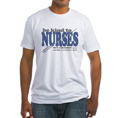Be Kind to Nurses Fitted T-Shirt