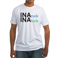 inatude logo for print Fitted T-Shirt