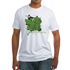 grunge_hops_dark Fitted T-Shirt