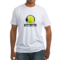 TENNIS ROCKS Fitted T-Shirt