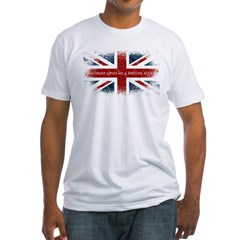 british_dark Fitted T-Shirt