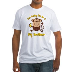 Monkey Future Big Brother Fitted T-Shirt
