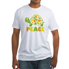 PeaceTurtle3 Fitted T-Shirt