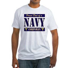 Corpsman Dad Fitted T-Shirt