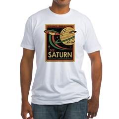 See Saturn Fitted T-Shirt