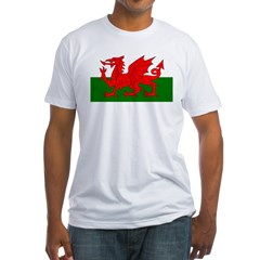 Flag of Wales (Welsh Flag) Fitted T-Shirt