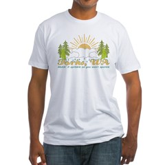 Forks, WA Vintage Fitted T-Shirt