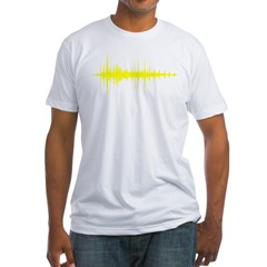 AudioWave_Yellow_1shot Fitted T-Shirt