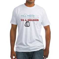 Proud MIL to a Soldier Fitted T-Shirt