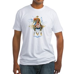 Mary Immaculate Heart Fitted T-Shirt