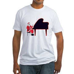 Santa at the Keys Fitted T-Shirt