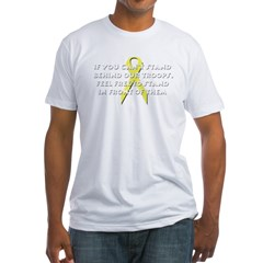 Stand Behind Our Troops Fitted T-Shirt