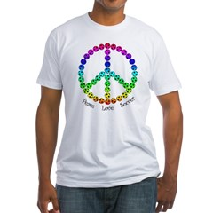 Peace.Love.Soccer Fitted T-Shirt