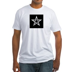 Wiccan Pentagram Fitted T-Shirt