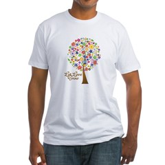 let-love-grow Fitted T-Shirt