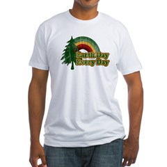 Earth Day Every Day Retro Fitted T-Shirt