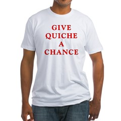 "Polymorph ""Give Quiche A Chance"" Red Dwarf Fitted T-Shirt"