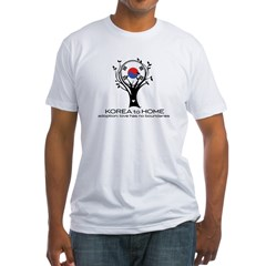 Korea to Home Fitted T-Shirt