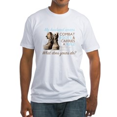 My Husband Wears Combat Boots Fitted T-Shirt