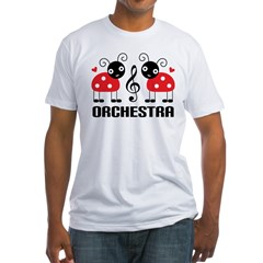 Ladybug Orchestra Music Fitted T-Shirt