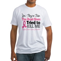 Breast Cancer Fake Fitted T-Shirt