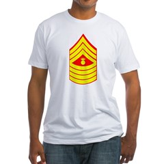 USMC Retired <BR>Master Gunnery Sergeant Fitted T-Shirt