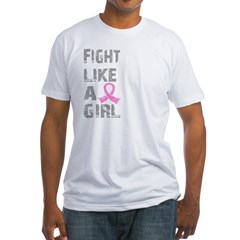 Fight Like A Girl Breast Cancer D 21.8 Fitted T-Shirt
