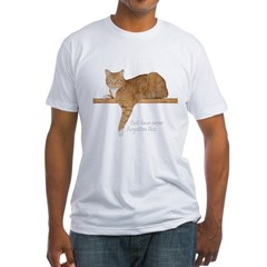 Orange Cat Ginger Kitty Fitted T-Shirt