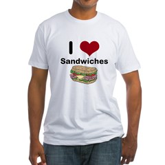 i love sandwiches Fitted T-Shirt