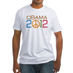Obama 2012 Peace Fitted T-Shirt