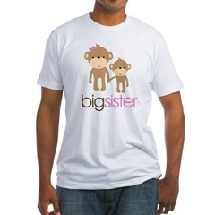 Monkey Big Sister Fitted T-Shirt