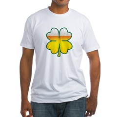 Beer Leaf Clover St. Patrick's Day Fitted T-Shirt
