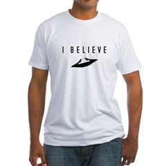 UFO I Believe / Fitted T-Shirt