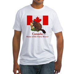 Canada - Beaver Home Fitted T-Shirt