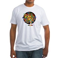 Autism-Tree-blk Fitted T-Shirt