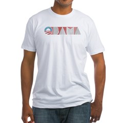 Obama-retro-2012-t1 Fitted T-Shirt