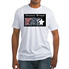 Freedom Works Flag Fitted T-Shirt