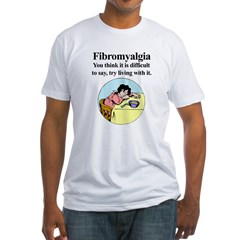Fibromyalgia-woman Fitted T-Shirt