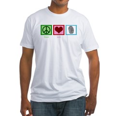 Peace Love CSI: Miami Fitted T-Shirt