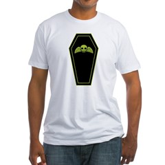 Green Coffin Fitted T-Shirt