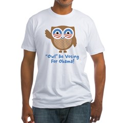 Obama Owl Fitted T-Shirt